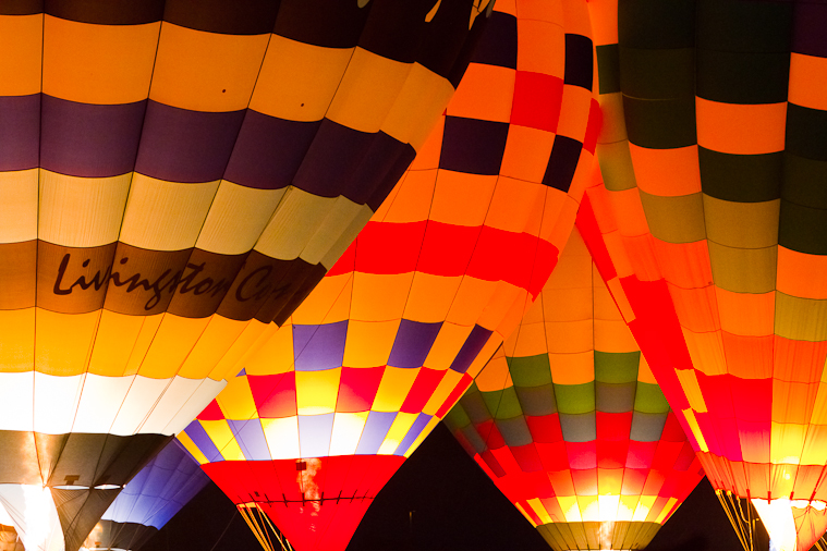 Glowing Hot Air Balloons